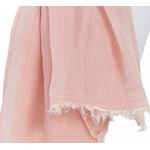 foulard rose coton froissé homme femme