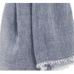 foulard bleu gris coton froissé homme femme