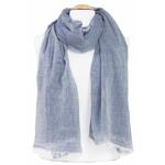chèche bleu gris coton froissé femme homme