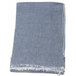 foulard coton bleu gris femme homme
