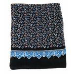 foulard en soie homme noir paisley frise 5