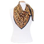 foulard en soie femme carré beige panthere