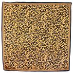 foulard en soie carre de soie beige panthere