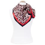 foulard en soie femme carré rouge panthere