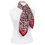 foulard rouge soie carre femme rouge panthere