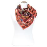 foulard en soie femme carré rouge chats