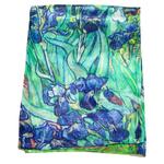 étole soie Iris bleu femme