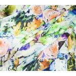 étole mariage soie vert fleurs pastel élane