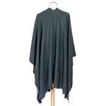 poncho anthracite gris clair réversible accessoire femme