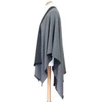 poncho femme gris clair gris anthracite  réversible