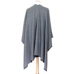 poncho gris clair anthracite  réversible accessoire femme