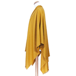 poncho femme jaune moutarde