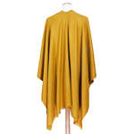 poncho jaune moutarde accessoires femme