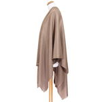 poncho femme taupe
