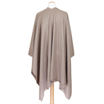 poncho taupe accessoires femme