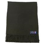 étole femme laine kaki fabriquée en France