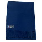 étole femme laine bleu navy fabriquée en France