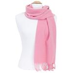 écharpe femme pure laine rose