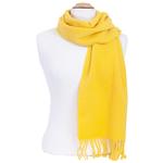 écharpe femme pure laine jaune