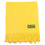 écharpe laine femme jaune