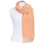 écharpe femme pure laine peche