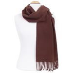 écharpe femme ou homme pure laine chocolat