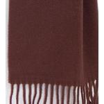 écharpe chocolat  laine femme homme