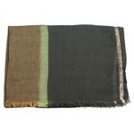 echarpe femme laine vert lurex