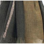 echarpe verte laine lurex femme