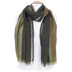 echarpe laine vert lurex pour femme
