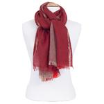 echarpe femme rouge laine lurex