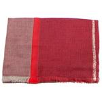 echarpe femme laine rouge lurex
