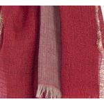 echarpe rouge laine lurex femme