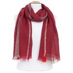 echarpe laine rouge lurex pour femme