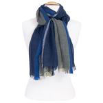 echarpe femme bleu laine lurex