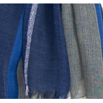 echarpe bleu laine lurex femme