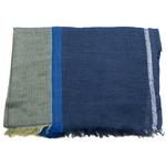 echarpe femme laine bleu lurex