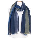 echarpe laine bleu lurex pour femme