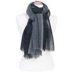 écharpe laine noir femme ou homme