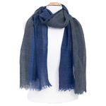 écharpe laine bleu femme homme chevrons
