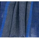 echarpe bleu etamine de laine