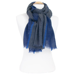 écharpe laine bleu femme ou homme