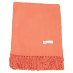 étole laine orange doux