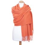étole orange doux laine femme