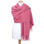 étole rose laine femme