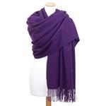étole laine violet 2