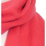 écharpe femme cachemire rouge orangé