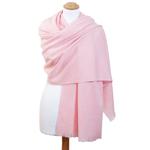 Etole femme cachemire laine rose