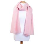 Etole rose cachemire et laine femme