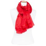 etole rouge en soie femme